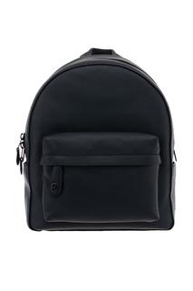Черный кожаный рюкзак Campus Coach