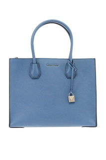 Голубая кожаная сумка Mercer Michael Kors