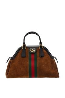 Коричневая сумка из замши Re(Belle) Gucci