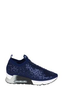 Синие кроссовки с кристаллами Lifting Ash