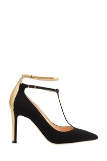 Черные текстильные туфли Fendi