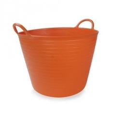 Корзина пластиковая оранжевая №3 rubi 40л 88724