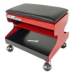 Стальной рабочий стул на колесах со съемным сиденьем из пенорезины jtc 5020
