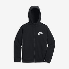 Худи с молнией во всю длину для мальчиков школьного возраста Nike Sportswear Advance 15