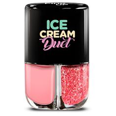 Набор лаков для ногтей PINK UP ICE CREAM DUET тон 04 2x4 мл