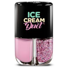 Набор лаков для ногтей PINK UP ICE CREAM DUET тон 09 2x4 мл