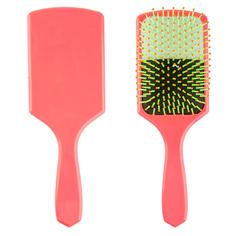 Расческа для волос LADY PINK BRIGHT массажная розовая квадратная