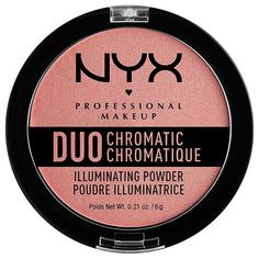 Хайлайтер для лица NYX PROFESSIONAL MAKEUP DUO CHROMATIC тон 03 crushed bloom