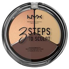 Палетка для скульптурирования NYX PROFESSIONAL MAKEUP 3 STEPS TO SCULPT FACE тон 03 medium