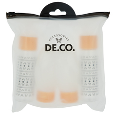 Набор дорожных флаконов DE.CO. в косметичке 4 шт Deco
