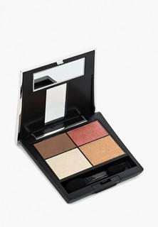 Тени для век Make Up Factory 4-х цветные Eye Colors т.06А, темно коричневый/террекот/светло бежевый/бронза