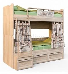 Кровать двухъярусная Шервуд 2-1 Сканд Мебель