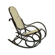 Кресло-качалка 1807 дуб темный/бежевый Петроторг