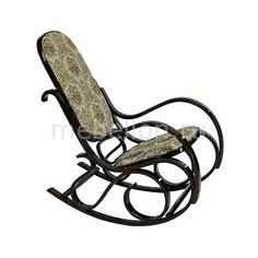 Кресло-качалка 1807-2 дуб темный/бежевый Петроторг