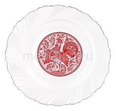 Тарелка плоская (18 см) Петух красный 484-434