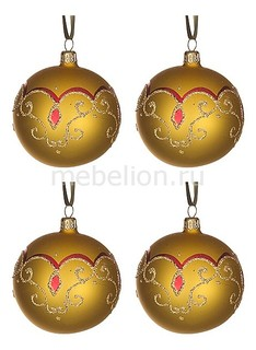 Набор из 4 елочных шаров (7.5 см) Очарование 860-523