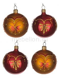 Набор из 4 елочных шаров (6 см) Новелла 860-522