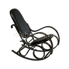 Кресло-качалка 1807-1 дуб темный/черный Петроторг