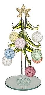 Ель новогодняя с елочными шарами (15 см) ART 594-101