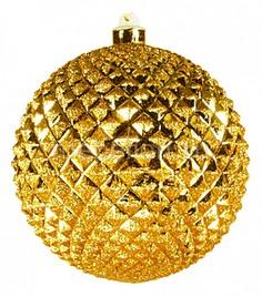 Елочный шар (20 см) рельефный 502-201 Неон Найт