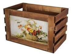 Ящик декоративный Корзина с цветами 807 Акита