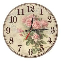 Настенные часы (40 см) Розы C40-15 Акита