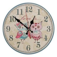 Настенные часы (30 см) Совята C57 Акита