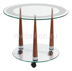 Стол журнальный Квартет 13 среднекоричневый Мебелик