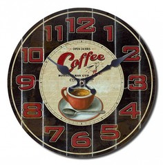 Настенные часы (30 cм) Love Coffee 319348 ОГОГО Обстановочка