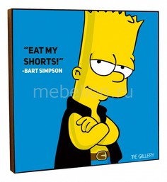 Панно (25х25 cм) Bart Simpson 316906 ОГОГО Обстановочка