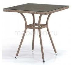 Стол обеденный T282BNT-W56-70x70 Light Brown Afina