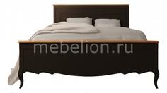 Кровать двуспальная Leontina Black Этажерка