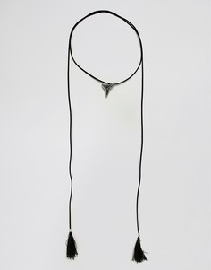 Чокер с подвеской-клыком Reclaimed Vintage Inspired эксклюзивно для ASOS - Черный