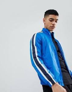 Синяя спортивная куртка с полосками сбоку Pull&Bear - Синий Pull&;Bear