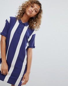 Синее платье регби в стиле колор блок Pull&Bear - Мульти Pull&;Bear