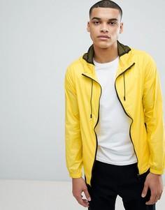 Фестивальная куртка неоново-желтого цвета с контрастной молнией Another Influence - Желтый