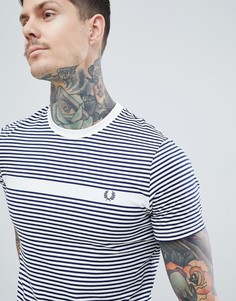 Fred Perry Fine Stripe T-Shirt In White - Белый