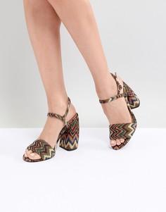Босоножки на каблуке ASOS DESIGN Hamish - Мульти