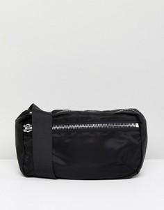 Нейлоновая сумка-кошелек на пояс Weekday - Черный