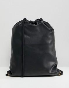 Черный рюкзак с мятым эффектом Mi-Pac - Черный
