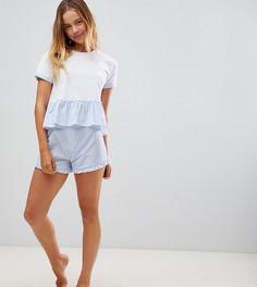 Пижамный комплект с синими шортами Hey Peachy - Мульти