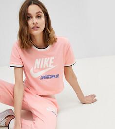 Розовая футболка с контрастной отделкой Nike Archive - Розовый