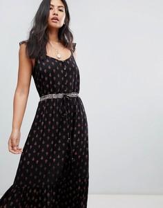 Платье макси с оборками Raga - Черный