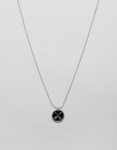 Серебристое ожерелье с монетой ASOS DESIGN - Серебряный