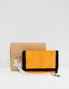 Оранжево-черный бумажник ASOS DESIGN vintage inspired - Фиолетовый