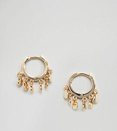 Серебряные серьги-кольца с позолотой из 14-каратного золота Shashi Ashley Huggie - Золотой
