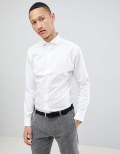 Приталенная строгая рубашка с широким воротником Selected Homme - Белый