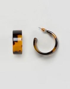 Серьги-кольца с черепаховой отделкой ASOS DESIGN - Мульти