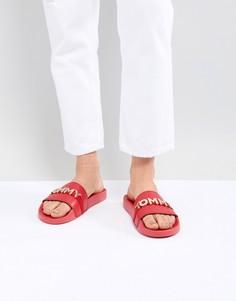 Шлепанцы для бассейна с логотипом-подвеской Tommy Hilfiger - Красный