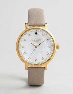 Женские часы с кожаным ремешком Kate Spade Monterey - Серый